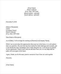 sample thank you resignation letters thank you resignation letter