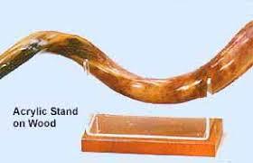 shofar stands shofar shofar stands wood acrylic stand for yemenite shofar