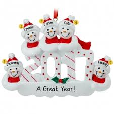 family of five ornaments personalized ornaments for you