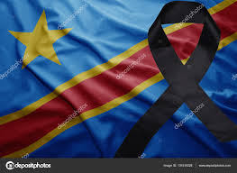 Dr Congo Flag Flag Of Democratic Republic Of The Congo With Black Mourning