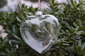 wholesale heart shape christmas ornaments christmas glass
