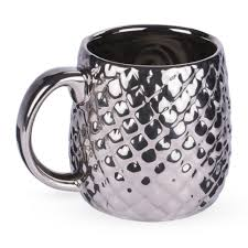 owl mug embossed metallic silver owl mug 20 oz spirit cocktail