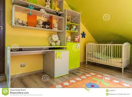 Yellow Baby Room by Urban Apartment Green And Yellow Interior Royalty Free Stock