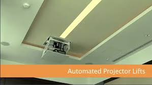 How To Hang A Projector Screen From A Drop Ceiling by Sl236sp Smart Lift Automated Projector Mount For Suspended
