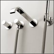 Tub Faucet With Handheld Shower Wall Mounted Bathtub Faucets With Hand Shower Bathubs Home