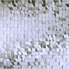 Brushed Aluminum Mosaic Tile Kitchen Wall Backsplash Silver Metal - Aluminum backsplash