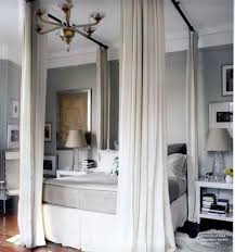 How To Hang Curtains Around Your Bed Best 25 Faux Canopy Bed Ideas On Pinterest Canopy Bedroom