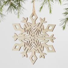 laser cut wood snowflake ornaments set of 4 world market