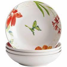 Fruit Bowl Bonjour Dinnerware Al Fresco Porcelain Stoneware 4 Piece Fruit