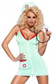 Halloween Nurse Costume Blue Red Trim Halloween Women Nurse Costume Nursecostumes