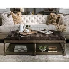 thomas leather ottoman in valencia dark brown nebraska furniture