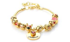 customized gold bracelets custom emoji charm bracelet novadab groupon