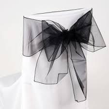 black chair sashes black organza chair sash 8 x 108 fuzzy fabric