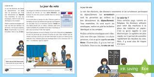 bureau de vote 12 fiche documentaire le jour du vote élection présidentielle