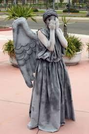Halloween Statue Costume Costume Living Sculpture Shows Wig