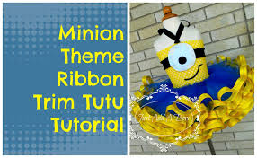 minion ribbon how to make a minion theme ribbon trim tutu by just add a bow