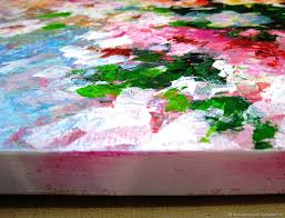palette knife painting on canvas abstract flower painting elenaberezyukart