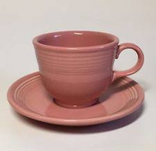 fiestaware pink genuine pink place setting of 4 homer laughlin