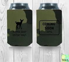 shower koozie baby shower gift drink coozie koozie a deer is on