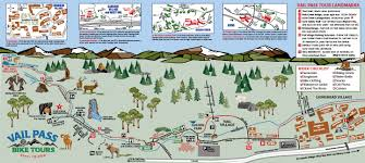 Vail Map Charter Sports Offering Vail Pass Bike Tours Dual Suspension Bike