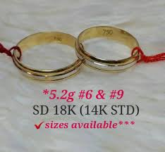 wedding ring philippines 18k saudi gold wedding rings 84974 affordagold philippines