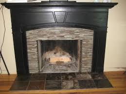 modern corner fireplace design with white cobblestone wood stone