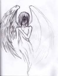 drawn angel easy draw pencil and in color drawn angel easy draw