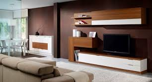 Livingroom Units Living Room Contemporary Modern Wall Units In White Tone With