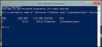 use map drive how to map drives powershell