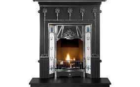 amsterdam combination cast iron fireplace