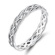 wedding band ring 925 sterling silver celtic knot eternity band ring