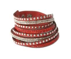 red wrap bracelet images Red faux leather wrap bracelet leather wrap bracelets uk jpg