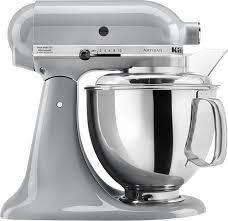 kitchenaid artisan series tilt head stand mixer silver ksm150psmc