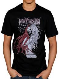 new years t shirts official new years day hair skull t shirt costello dear