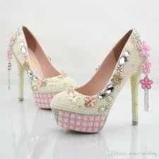pearl wedding shoes cheap ivory pearl wedding shoes stiletto heel bridal dress
