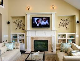 Fireplace Decorating Ideas For Your Home Living Room Luxury Living Room With Fireplace And Tv Decorating