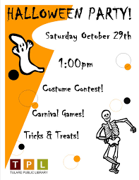halloween party events upcoming family events tulare public library