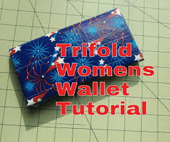 how to make a trifold woman u0027s wallet tutorial diy products i