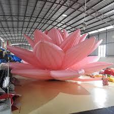 art show display lighting led lighting inflatable lotus flower for display art show