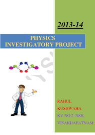 physics investigatory project class 12