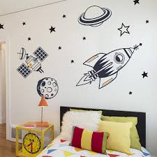 space wall stickers for kids home design ideas kids bedroom wall stickers outer space feature pack by making statements notonthehighstreet com part