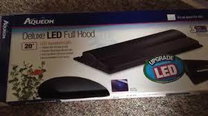 aqueon led aquarium light fixture 36 inch aqueon led lights deluxe hood unboxing youtube