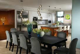height to hang light above dining table size pendant lighting