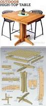 Dining Room Table Woodworking Plans by Best 25 Outdoor Table Plans Ideas On Pinterest Outdoor Farm