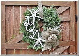 some create a coastal wreath sand and sisal