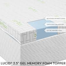 lucid gel infused memory foam mattress topper review