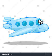 kid blue cartoon plane eyes mouth stock vector 570403516