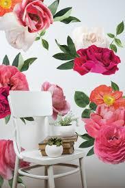 half order mixed bright peony wall decals urban walls half order mixed bright garden flowers