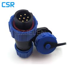 sp1310 waterproof connector 7 pin ip68 led power connector