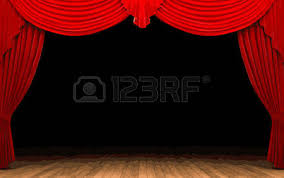 Stage With Curtains Theatre Stage With Curtains And Audience Waiting Royalty Free